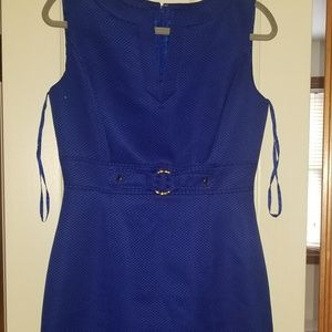 Blue Tahari Dress, knee length